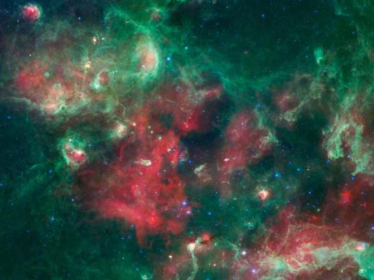 Nasa Spitzer Space Telescope image of Cygnus